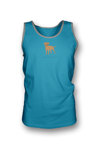 Mens Tank Top T-Shirt - Boarder Terriers Rule! Carbbean Blue
