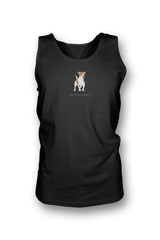 Mens Tank Top T-Shirt - Jack Russells Rule! Black