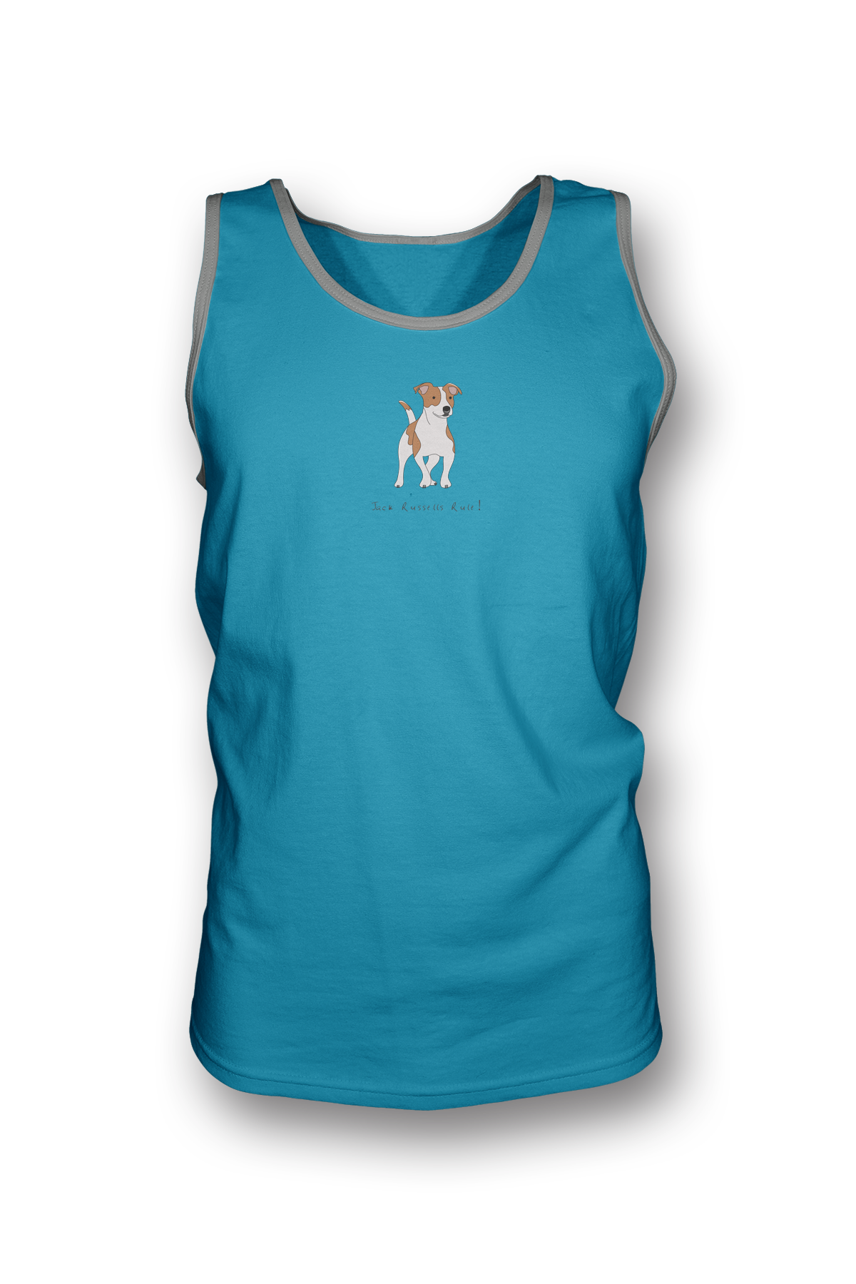Mens Tank Top T-Shirt - Jack Russells Rule! Caribbean Blue
