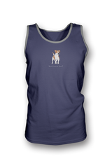 Mens Tank Top T-Shirt - Jack Russells Rule! Heather Blue