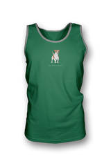 Mens Tank Top T-Shirt - Jack Russells Rule! Heather Green
