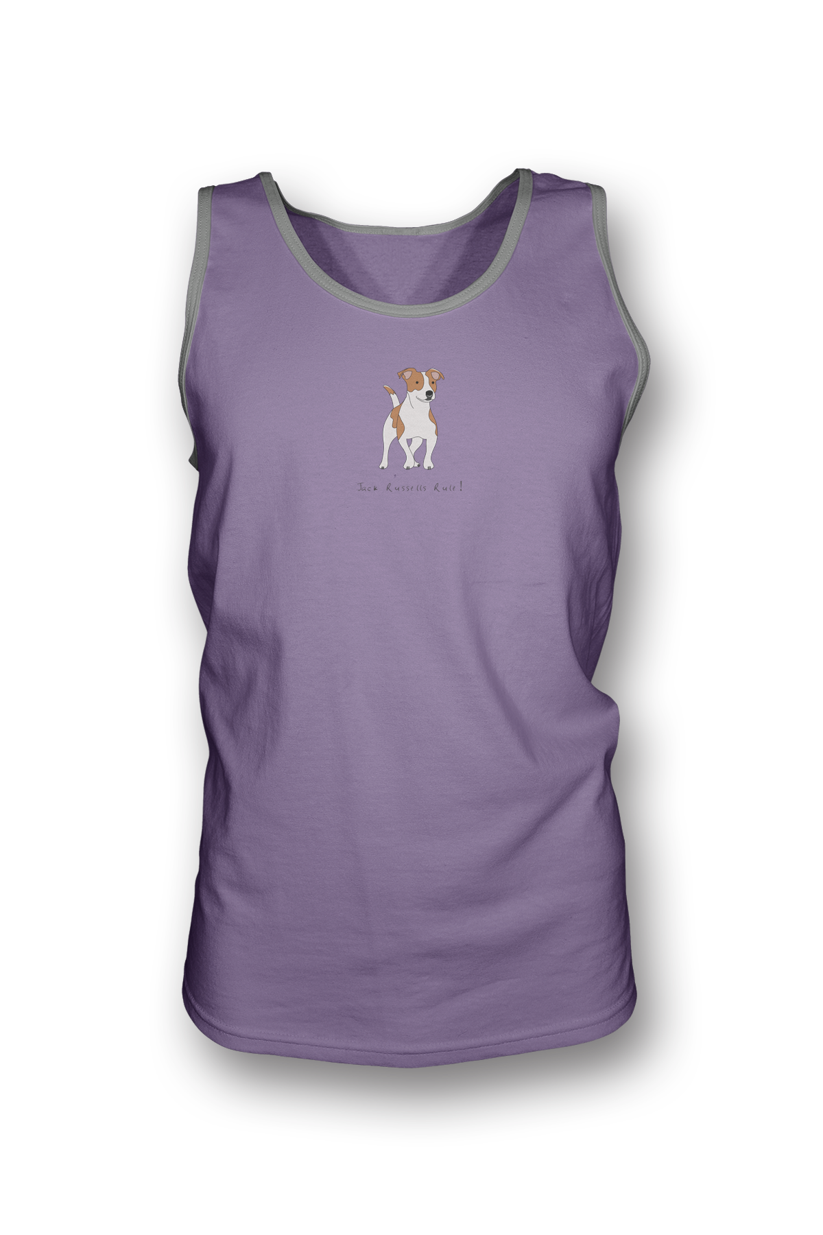 Mens Tank Top T-Shirt - Jack Russells Rule! Heather Purple