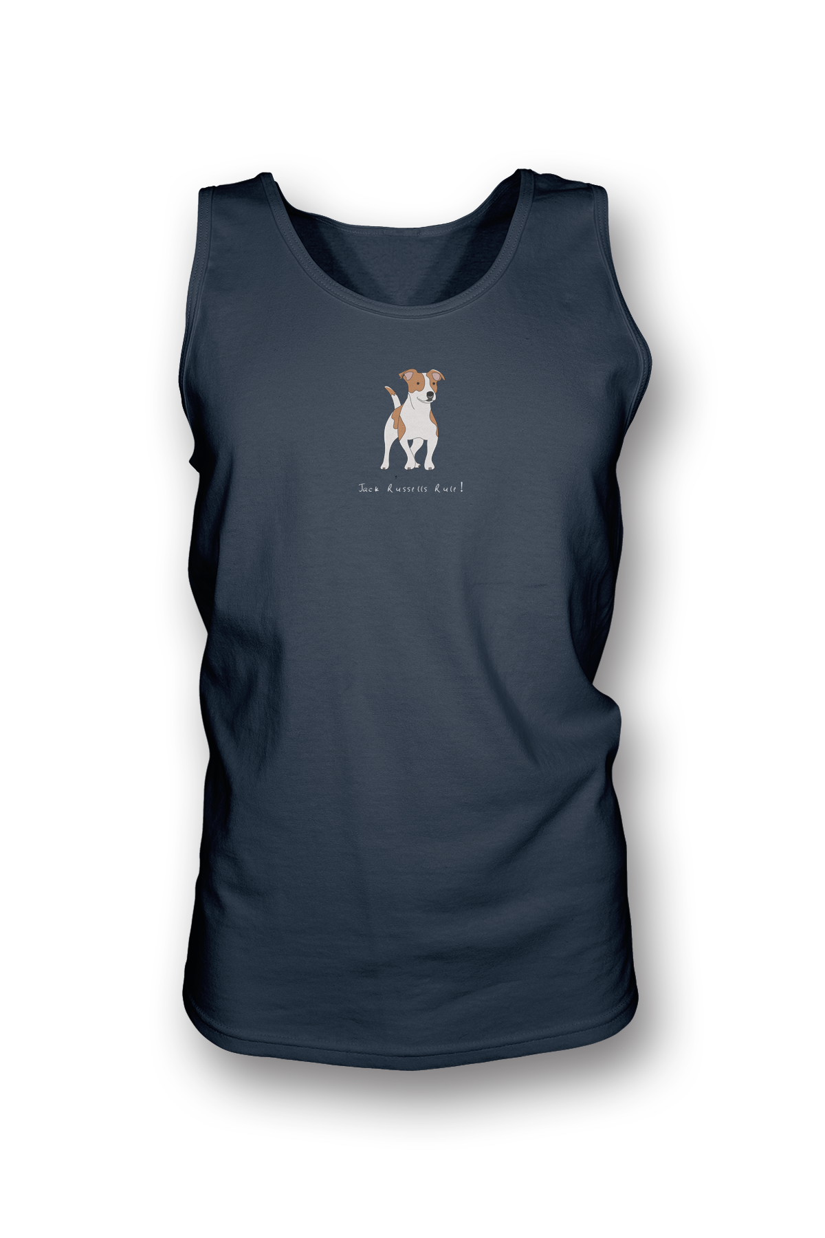 Mens Tank Top T-Shirt - Jack Russells Rule! Navy
