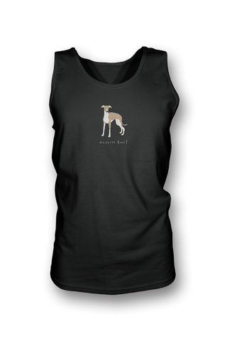 Mens Tank Top T-Shirt - Whippets Rule! Black