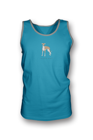 Mens Tank Top T-Shirt - Whippets Rule! Caribbean Blue