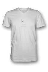 Mens V Neck T-Shirt - Westies Rule! White