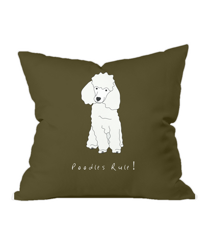 Throw Cushion - Poodles Rule!