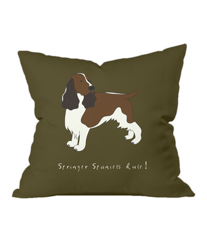 Throw Cushion - Springer Spaniels Rule!