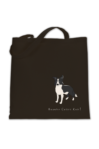 Shoulder Tote Bag - Boarder Collies Rule!