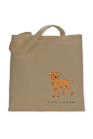 Shoulder Tote Bag - Boarder Terriers Rule!