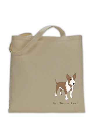 Shoulder Tote Bag - Bull Terriers Rule! - Dogs Rule!