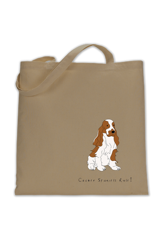 Shoulder Tote Bag - Cocker Spaniels Rule!