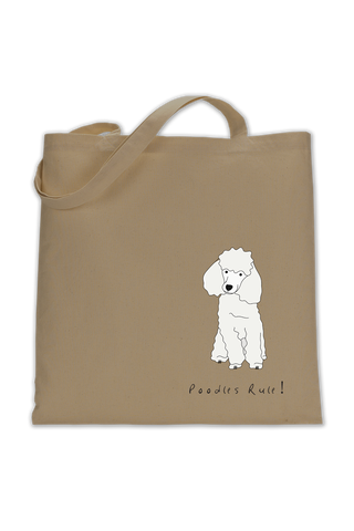 Shoulder Tote Bag - Poodles Rule!