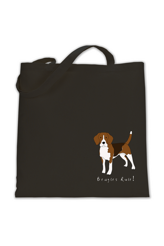 Shoulder Tote Bag - Beagles Rule!