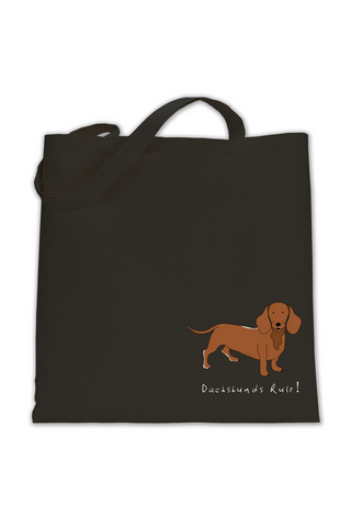 Shoulder Tote Bag - Dachshunds Rule!