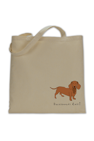 Shoulder Tote Bag - Dachshunds Rule! - Dogs Rule!