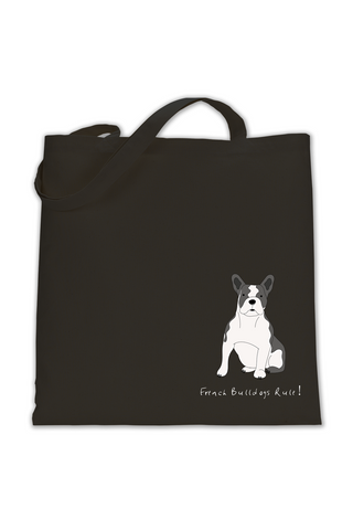 Shoulder Tote Bag - French Bulldogs Rule!