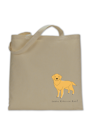 Shoulder Tote Bag - Golden Retrievers Rule!