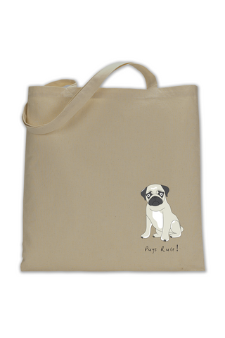 Shoulder Tote Bag - Pugs Rule! - Dogs Rule!
