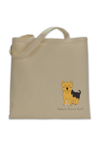 Shoulder Tote Bag - Yorkshire Terriers Rule!
