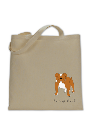 Shoulder Tote Bag - Bulldogs Rule! - Dogs Rule!