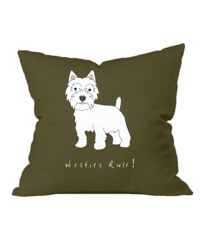 Throw Cushion - Westies Rule!