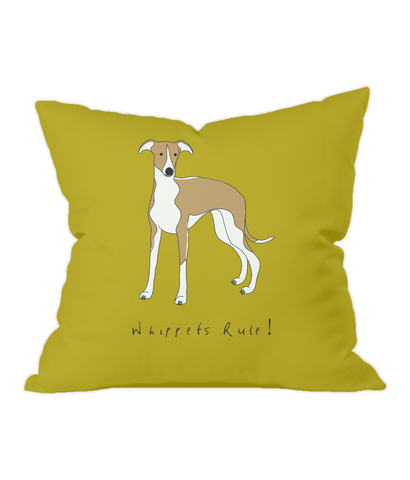 Throw Cushion - Whippets Rule!
