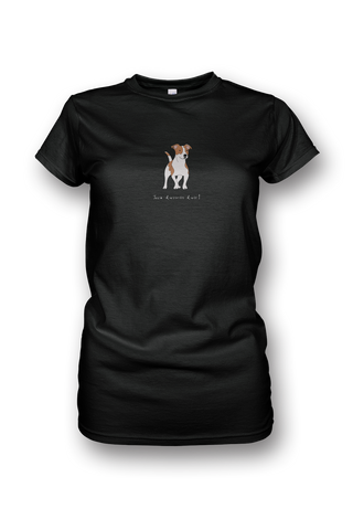 Ladies Crew Neck T-Shirt - Jack Russells Rule! Black