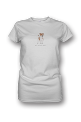 Ladies Crew Neck T-Shirt - Jack Russells Rule! White