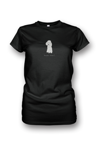 Ladies Crew Neck T-Shirt - Poodles Rule! Black