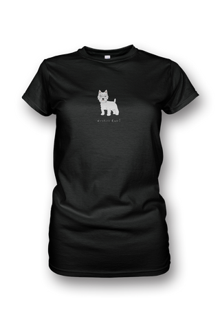 Ladies Crew Neck T-Shirt - Westies Rule! Black