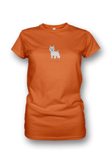 Ladies Crew Neck T-Shirt - Westies Rule! Neon Orange