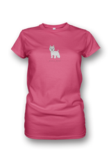 Ladies Crew Neck T-Shirt - Westies Rule! Neon Pink