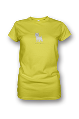 Ladies Crew Neck T-Shirt - Westies Rule! Neon Yellow