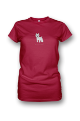 Ladies Crew Neck T-Shirt - Westies Rule! Red