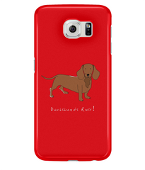 Samsung Galaxy S6 Full Wrap Case - Dachshunds Rule! - Dogs Rule!