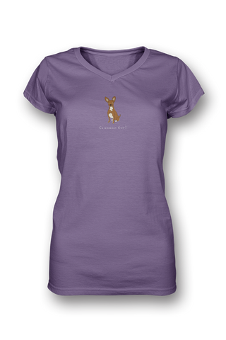 Ladies Sheer V Neck T-Shirt - Chihuahuas Rule! - Dogs Rule!