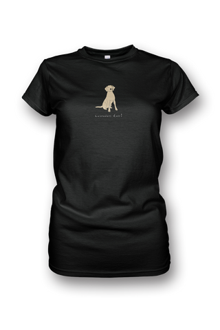 Ladies Crew Neck T-Shirt - Labradors Rule! - Dogs Rule!