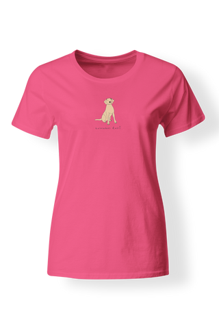 Ladies Fitted Crew Neck T-Shirt - Labradors Rule! - Dogs Rule!