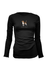 Ladies Fitted Long Sleeve T-Shirt - Beagles Rule! - Dogs Rule!