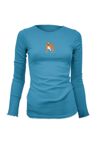 Ladies Fitted Long Sleeve T-Shirt - Bulldogs Rule! - Dogs Rule!