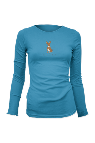 Ladies Fitted Long Sleeve T-Shirt - Chihuahuas Rule! - Dogs Rule!