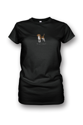 Ladies Crew Neck T-Shirt - Beagles Rule! - Dogs Rule!