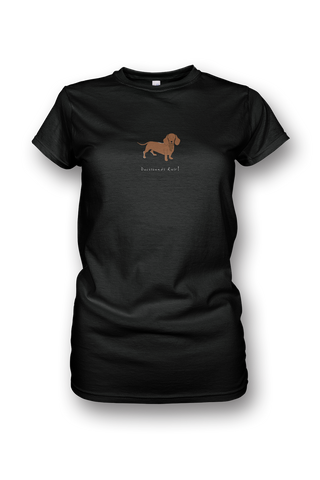 Ladies Crew Neck T-Shirt - Dachshunds Rule! - Dogs Rule!