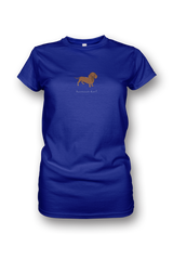 Ladies Crew Neck T-Shirt - Dachshunds Rule!