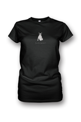 Ladies Crew Neck T-Shirt - French Bulldogs Rule! - Dogs Rule!