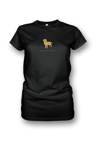 Ladies Crew Neck T-Shirt - Golden Retrievers Rule! - Dogs Rule!
