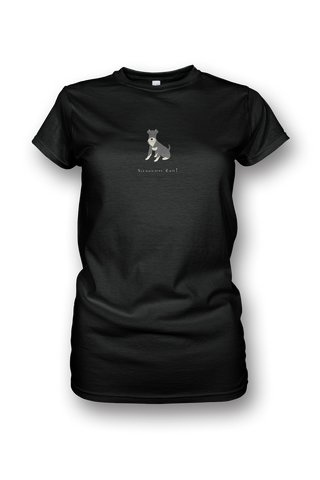 Ladies Crew Neck T-Shirt - Schnauzers Rule! - Dogs Rule!