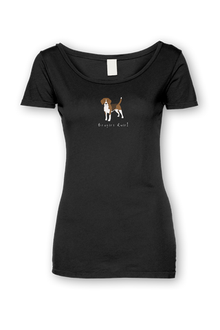 Ladies Sheer Scoop Neck T-Shirt - Beagles Rule! - Dogs Rule!