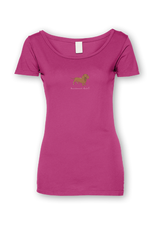 Ladies Sheer Scoop Neck T-Shirt - Dachshunds Rule! - Dogs Rule!